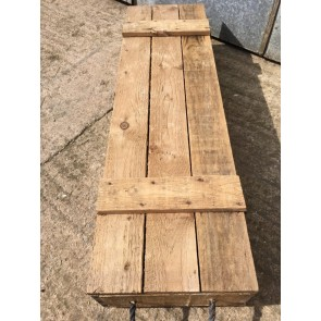 """Reclaimed Old Pine Rustic Tool Box Storage Chest 42 1/8"""" Long"""