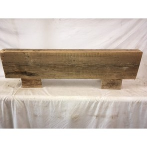 41 1/8 Inch Or 104.7cm Long Old Pine Timber Beam Floating Over Mantle Shelf