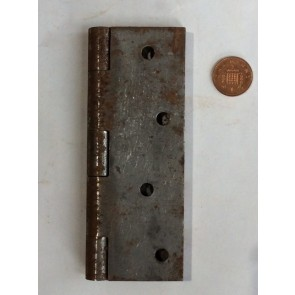 "5"" Large Reclaimed Cast Iron Steel Butt Hinge Self Coloured"
