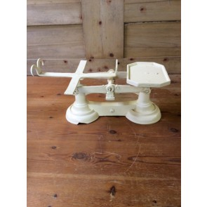 Salvaged 1930s Cast Iron Weighing Scales Cream 19 5/8""
