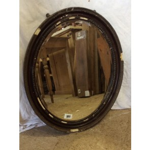 """Reclaimed Old Oval Mirror With Pine Frame 23 1/2 X 19 1/2"""""""