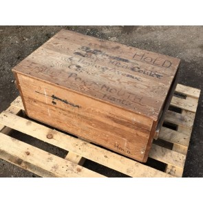 """Old Pine Wooden Stoarage Blanket Toy Box Chest 33 1/2 X 23 1/2"""""""
