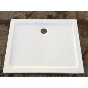 800x1000mm Modern Shallow White Ceramic Shower Tray