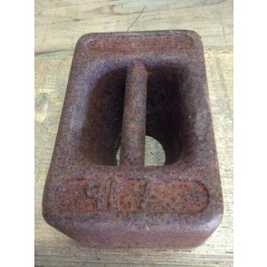 Reclaimed Old Cast Iron 7lb Weight For Balance Scales With Carrying Handle