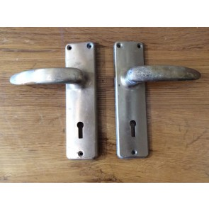 Six Pairs Of Reclaimed Union Lever Door Handles In Chrome