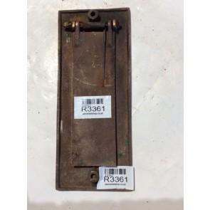 """3 1/8""""x8"""" Vintage 1930s Brass Front Door Vertical Letter Flap"""