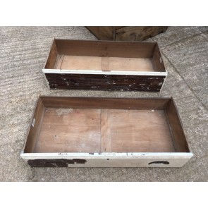 Two Salvaged Old Pine Wooden Drawers 76x36cm
