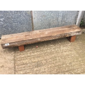 39 1/4 Inch or 100cm Long Old Reclaimed Pine Rustic Beam Shelf Mantle Timber