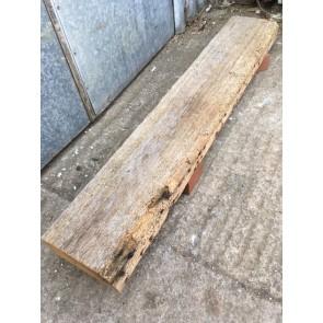 """116.7cm Or 45 7/8"""" Long Reclaimed Old Pine Shelf"""