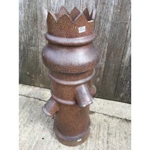 Salvaged Unusual Old Brown Clay Bishop Chimney Pot Garden Ornament 105.5cm High