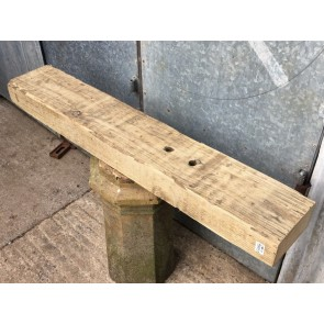 """3ft 10 3/8"""" Or 1.18m Long Old Salvaged Solid Pine Beam"""