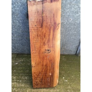 0.29m2 Old 30cm Wide 3cm Thick Solid Rustic Waney Edge Yew Mantle Shelf Plank