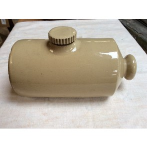 Reclaimed Vintage Old Stoneware Bed Warmer Hot Water Bottle 23.8cm Long
