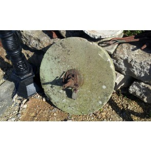 Large Antique Millstone Sharpening Wheel 24