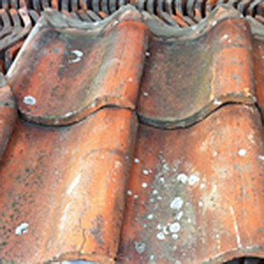 Reclaimed Pan Clay Roof Tile